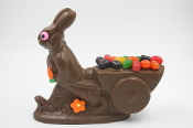17 Ounce Chocolate Bunny with Cart