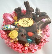 Edible Popcorn Easter Basket
